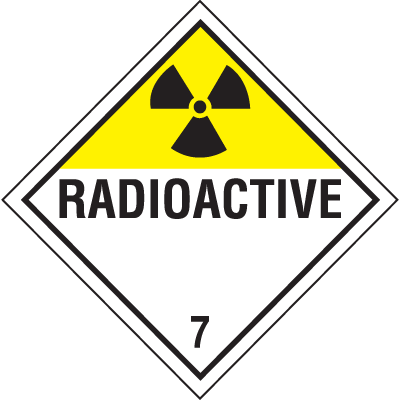 Radioactive Hazardous Material Placards