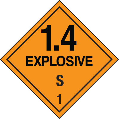 Explosive 1.4 B Hazard Class 1 Material Shipping Labels