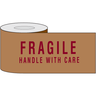 Printed Kraft Reinforced Tape - Fragile