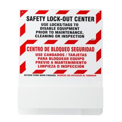 Prinzing® Bilingual Safety Lockout Station - Board Only
