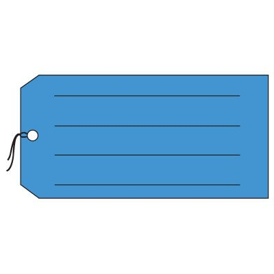 Production Control Tags - Blank with lines, Blue