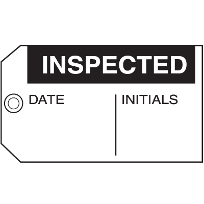 Inspected Date Initials Maintenance Tags