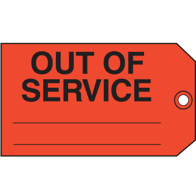 Out Of Service Maintenance Tags