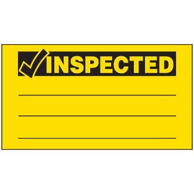 Inspected Production Status Labels