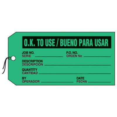 Bilingual OK To Use Production Status Tags