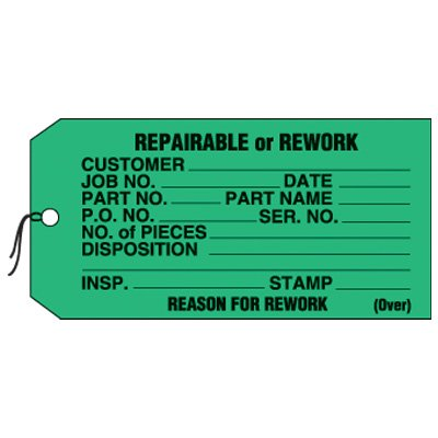 Repairable Or Rework Status Labels