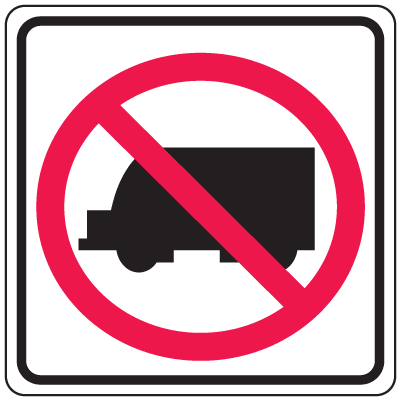 Prohibition Signs - No Trucks
