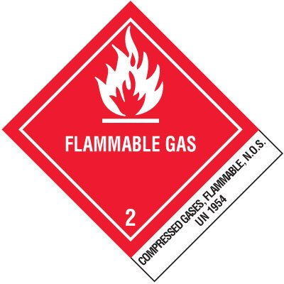 Flammable Gas Shipping Labels