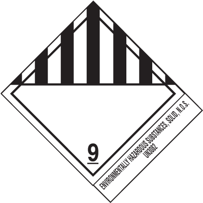 Hazardous Substances UN3082 DOT Shipping Labels