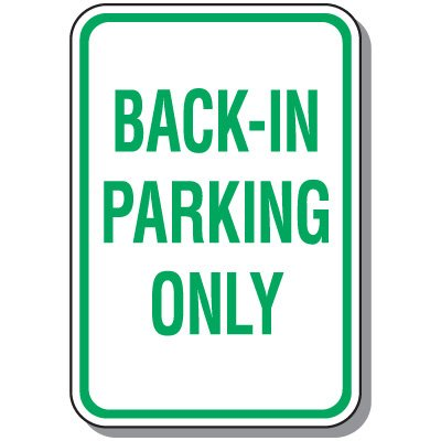 Property Parking Signs - Back-In Parking Only