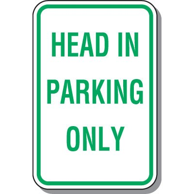Property Parking Signs - Head In Parking Only