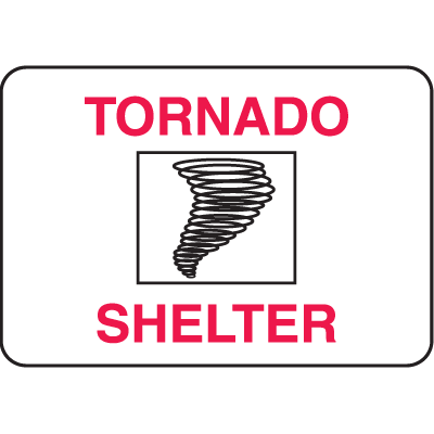 Property Signs - Tornado Shelter