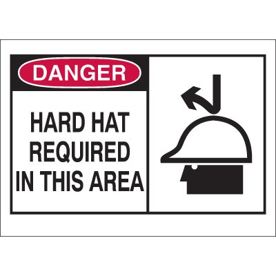 Danger Hard Hat Required Sign