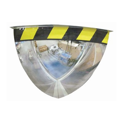 Quarter Dome Acrylic Security Mirror with Safety Border