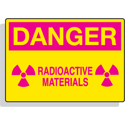 Radiation Hazard Signs - Danger - Radioactive Materials