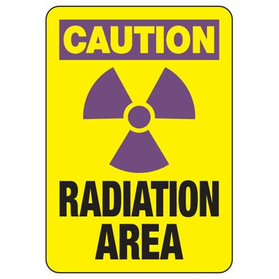 Radiation Area (Graphic) - Industrial Radiation Signs