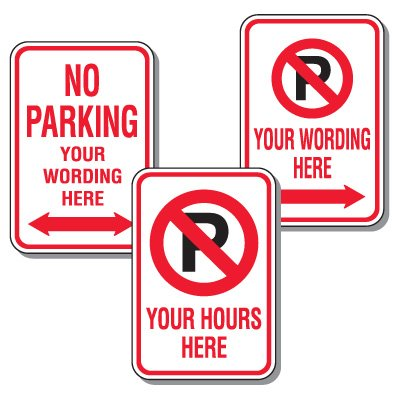 Rapid-Ship Custom Parking Signs - No Parking