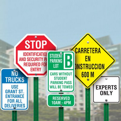 Rapid-Ship Custom Parking & Traffic Signs