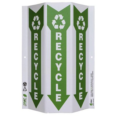 Recycle w/ Arrow Tri View Recycling Sign