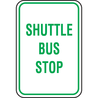Recycled Plastic Parking Signs -  Shuttle Bus Stop