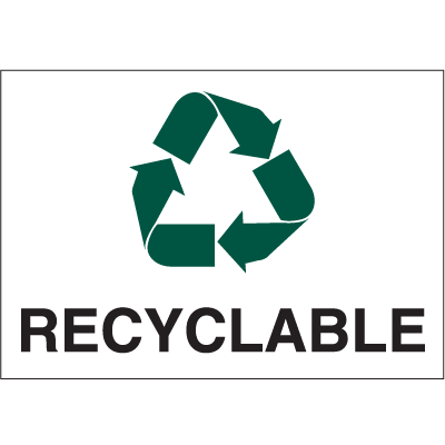 Recycling Labels - Recyclable