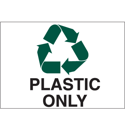 Recycling Labels - Plastic Only