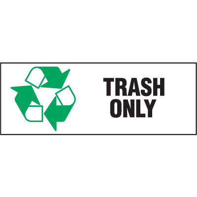 Recycling Labels - Trash Only
