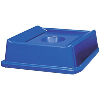 Rubbermaid® Square Recycling Container Bottle and Can Lid 2791-DBLUE