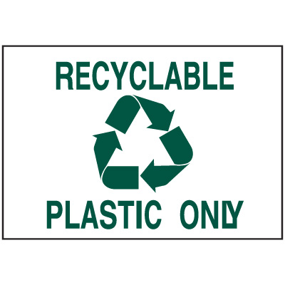 Recycling Signs - Plastic Only