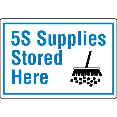 Red Tag Area Wall Signs - 5S Supplies Stored Here