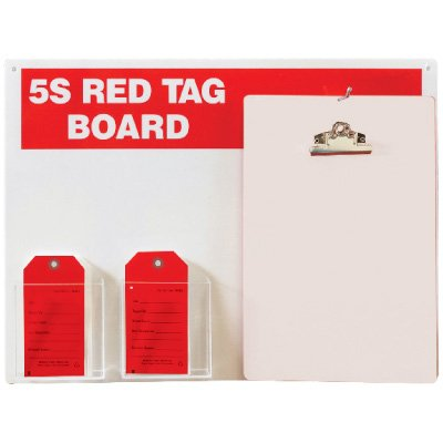 Red Tag Stations - 5S Red Tag Board with Clipboard