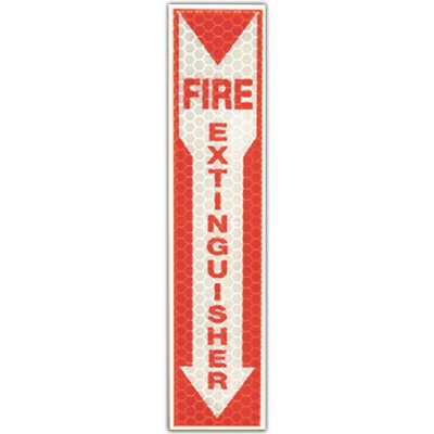 Cyalume Reflective Glow Fire Extinguisher Sign 9-30071