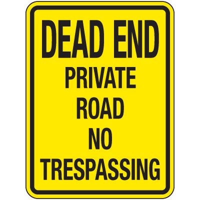 Reflective Parking Lot Signs - Dead End