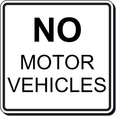 Reflective Parking Lot Signs - No Motor Vehicles