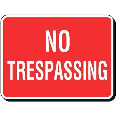 Reflective Parking Lot Signs - No Trespassing