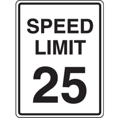 25 MPH Speed Limit Signs