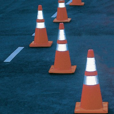 Reflective Striped Traffic Cones