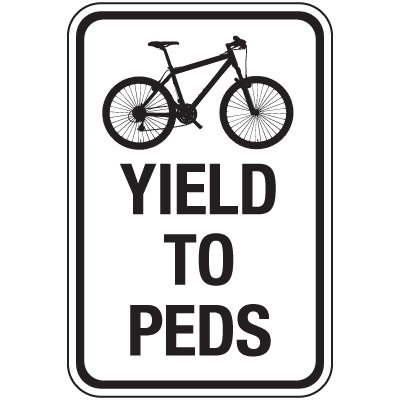 Reflective Traffic Reminder Signs - Yield To Peds