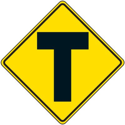Reflective Warning Signs - 3-Way Traffic Symbol