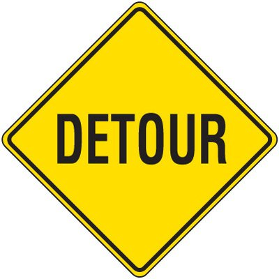 Reflective Warning Signs - Detour