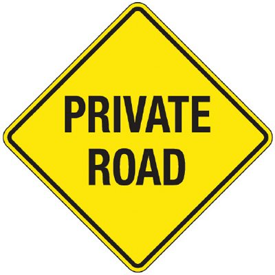 Reflective Warning Signs - Private Road