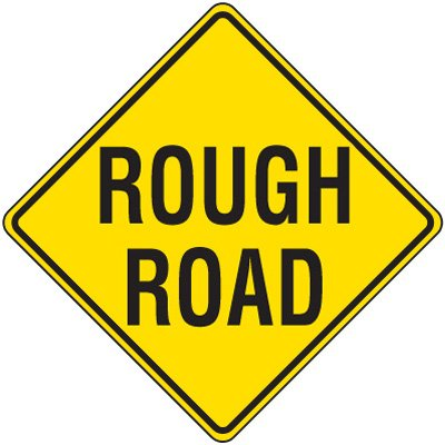 Reflective Warning Signs - Rough Road