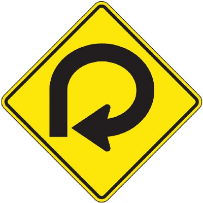 Reflective Warning Signs - Round-About (Symbol)