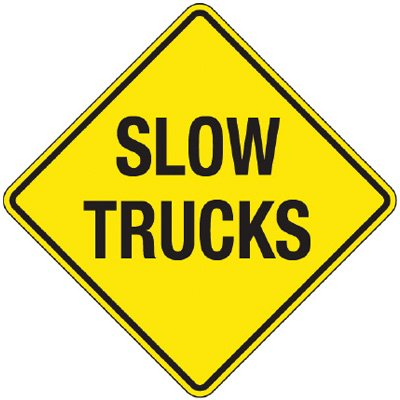Reflective Warning Signs - Slow Trucks