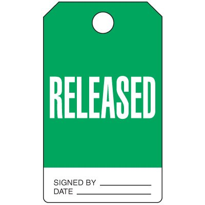 Released - Production Status Tags