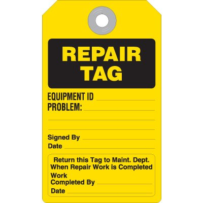 Repair Tag - Accident Prevention Ultra Tag