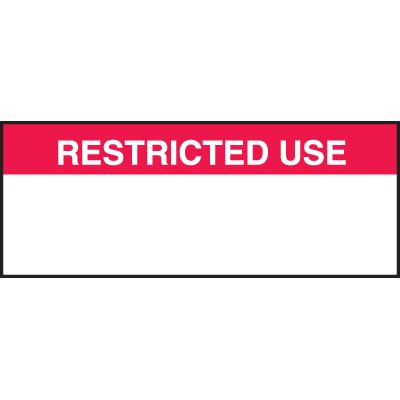 Restricted Use Labels
