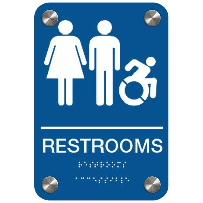 Restrooms (Dynamic Accessibility) - Premium ADA Restroom Signs