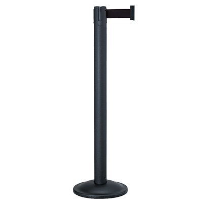 Beltrac® Contempo Retractable Belt Stanchion - Black Post