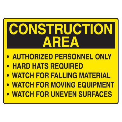 Road Construction Signs - Construction Area Dangers